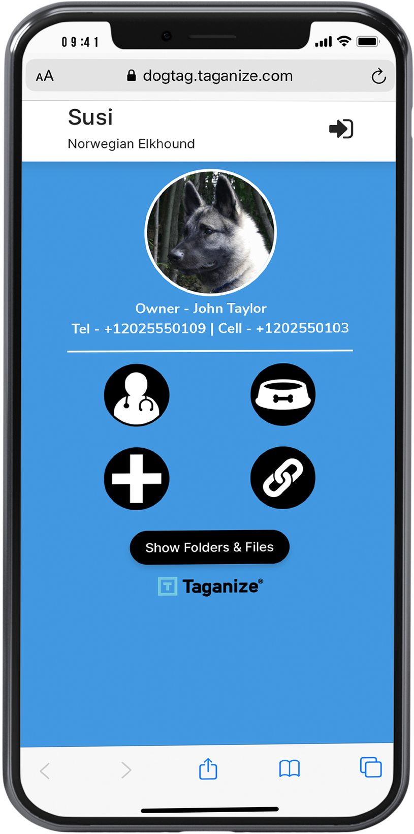 Click link to view demo dog tag website
